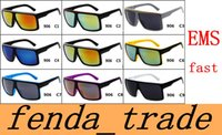Wholesale Fast Butterfly - EMS fast Neweat FAME 906 Big frame sunglasses men women fashion glasses dazzle colour colors 9 out door cycling sunglasses MOQ=30