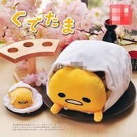 Wholesale Cute Pillow Blankets - New Fashion Gedetama Pillow Cute Air Conditioning blanket pillow Quilt For Kids sleep or Adult Office Rest Nap Covers