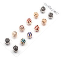 12pair / lot Atacado New Fashion Unique Ball Magnetic Brooch Strong Magnet Hijab Broche para Mulheres Factory Direct Price