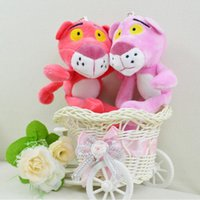 18CM Leoute Pink Panther Peluche Baby Kids muñeca Ball clave cadena colgante poret clef para mujeres Lovely Pink Panther colgante accesorios bolsa