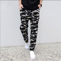Wholesale Mens Trousers Hip Hop - Wholesale-Fashion Mens Joggers Military Camouflage Brand Pants Loose Outdoor Trousers Harem Men Jeans Hip Hop