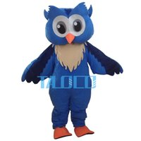 Wholesale Good Quality Big Blue Owl Mascot Costume Outfit Fancy Dress Adult