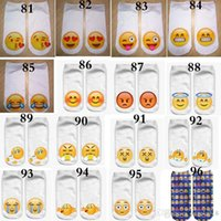 Wholesale Food Canvas Prints - 2016 96 style Emoji 3d socks Animal food printing women men socks skull cat candy canvas shoes Unisex socks E564