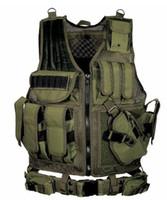 Wholesale Tactical Combat Vest Paintball - New Black Army CS Tactical Vest Paintball Protective Outdoor Training combat camouflage molle Tactical Vest 3 colors