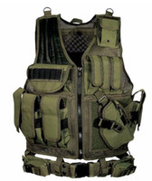 Wholesale new tactical vest online - New Black Army CS Tactical Vest Paintball Protective Outdoor Training combat camouflage molle Tactical Vest colors
