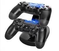 блок управления ps4 оптовых-Новые двойные зарядные устройства для контроллеров зарядки док-станция стенд для Sony PlayStation 4 PS4 PS4 4 X-box Бесплатная доставка