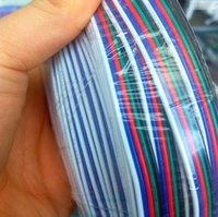 Wholesale Blue Black Red Green Connector - Wholesale-10 meters 5Pin Extension Electric Wire Cable Blue White Red Green Black Led Connector For RGBW 5050 3528 LED Stirp Light 22 AWG