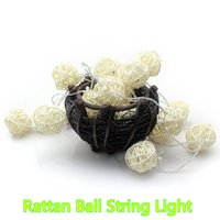 Wholesale Decoration Window Curtain - Novelty Battery Operated 20 LED 40 LED Fairy Rattan Ball String Light Window Curtain String Lights Christmas Tree Light Halloween Decoration