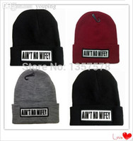 Wholesale Beanie Wifey - Wholesale-AIN'T NO WIFEY Beanie 2015 New Sport Winter Cap Men Hat Beanie Knitted Winter Hats For Men And Women Fashion Caps Top Quality
