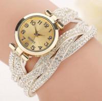 Wholesale Green Bracelet Watch Cheap - New Fashion Casual Relogio Feminino Quartz Rhinestone Leather Bracelet Women Watch Ladies Gift BW1185 Cheap watch calorie