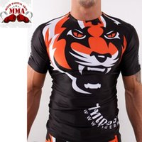 Wholesale Brazilian Art - Wholesale-2016 new arrived short long sleeve sublimated mma fight rash guard muay thai brazilian jiu jitsu compression Martial Art shirt