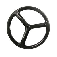 Wholesale Fixed Wheel Parts - Hulkbike 3 spoke track bike wheelset carbon fiber bicycle wheels Fixed Gear bicycle parts clincher wheelset customized bicycle component