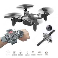 Nuevo DH800 2.4G 4CH 6-Axis WIFI FPV cámara 0.3MP Portable Drone RC Quadcopter Estilo del reloj Mini RC UFO Pocket Drone para niños