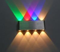 çok renkli led ışık toptan satış-yeni! 8 W Led Duvar Aplik lamba Otel Koridor adım Hall için Işıkları Başucu baş aşağı kapalı Dekoratif Aydınlatma, led Çok renkli ışık
