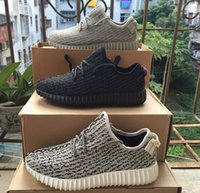 Wholesale Footballs Stores - Kanye West Boost 350 Running shoes men women shoes Sports shoes Brand Sports Shoes Store With original receipt, soxes, box