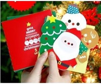 Wholesale Korea style fashion Folding design D Christmas cards Sheets Sets Christmas gift