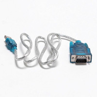 cables de serie al por mayor-HL 340 CH340 USB 2.0 A SERIAL RS232 DB9 9 PACIN ADAPTADOR CABLE Cable PDA CONVERTIDOR GPS