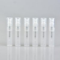Wholesale Mini Sprayer Bottle - Wholesale 700Pieces Lot Mini 2ML Plastic Perfume Bottle With Sprayer Empty Cosmetic Parfume Trial Pack Vial With Atomizer For Traveler
