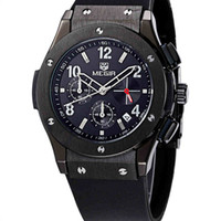 Wholesale Chronograph Watch Cheap - 2017 MEGIR Mens Watches Summer Outdoor Sports Athletic Quartz Waterproof Quality Silicone Calender Chronograph Sale Wristwatches Cheap