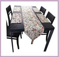 Wholesale Table Runners Unique Cloth - Unique Long Table Runners Place-mat set Elegant ancient sun flower Rectangle Table cloth Decorative Bed Runner