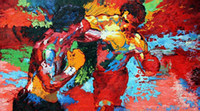 "Wholesale Korean Kids Cloths - Free shipping20""X30""inch Hot Sale The repro by Leroy Neiman (Rocky vs Apollo) Sports 20x30 Movie Poster Custom ART PRINT"