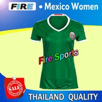 Wholesale New Season Football Soccer Jerseys - Thai Quality 2016-2017 new season Mexico women girls Soccer Jerseys 11 AQUINO 10 G.DOS SANTOS 14 CHICHARITO soccer jerseys football shirt