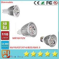Wholesale E27 12v Saving - Dimmable Led Light Spotlight 15W GU10 E27 E14 B22 GU5.3 85V-265V MR16 12V Energy Saving Led bulbs Lamp CE UL