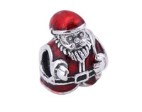 Wholesale Love Glass Model - 4 Models Christmas Series 925 Silver Charm European Charms Beads For Pandora Fit DIY Snake Chain Bracelets Designer Jewelry Gift Present