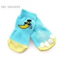 Wholesale dog sunglasses wholesale online - Banana wearing sunglasses pattern Cotton dog pet socks anti stain