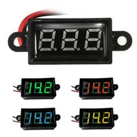 medidor de batería de 12v led al por mayor-Venta al por mayor-caliente a prueba de agua 0.28 DC 3.5-30V Mini Digital LED voltímetro voltímetro F 12V Moto de automóvil