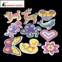 Wholesale Paper Toy Puzzle 3d - Wholesale- 10pc Puzzle Pegboards Patterns with colored paper For 5mm Hama Perler Beads DIY Kids Craft Plastic Stencil child fuse bead Toys