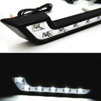 Wholesale Daytime Mercedes - Car LED daytime running light White Driving Fog Lamp 12V DRL Daytime Running Light For Benz