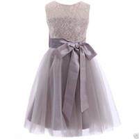 Wholesale Bridesmaid Dress Flower Details - Details about Formal Lace Baby Princess Bridesmaid Flower Girl Dresses Wedding Party Dress