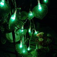 Wholesale Leaf Light String - New LED decorative light string festive holiday lights leaf shape lights outdoor waterproof flashing Christmas tree
