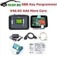 Wholesale Transponder Chip Programming - DHL Free Latest SBB V46.02 Programming New Key In Immobilizer Copy Transponder Chip Silca SBB Key Programmer 46.02 Car Key Maker