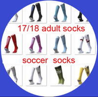 Wholesale Cotton Feet - soccer socks 2017-18 wholesale adult football sport long socks 17 18 fit foot size 39-45 discount sale