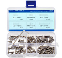 Wholesale Stainless Steel Allen Screws - M3 Button Head Socket Cap Screw Qty 120pcs Assortment Kit Allen Wrench Stainless