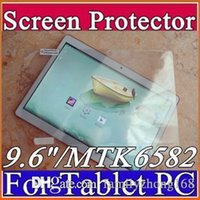 """Wholesale Mtk6589 3g Tablet - Original Screen Protective Film Protector Guard for 9.6"""" 9.6 inch MTK8382 MTK6589 MTK6592 Android 3G Phablet Tablet PC F-PG"""