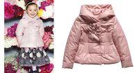 parka rosa chicas al por mayor-1-5Y chaqueta de invierno niños abrigo Monnalisa Otoño Invierno prendas de abrigo niñas abrigo invierno ninas Girls Pink chaqueta acolchada cálido Parkas envío gratis