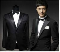 Wholesale Girdle Bow Bridegroom - 2016 New Arrival Slim Fit Groom Tuxedos Fashion Men's Suits Jacket+Pants+Girdle+Bow Bridegroom Wedding Suits Groom Suits