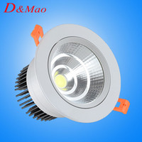 Wholesale Cob Down Lights - Hot Seller LED Downlight 10W COB Recessed LED Ceiling Lights Warm White White 4500K Not Dimmable Down Lights Indoor decorative lighting