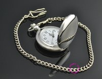 Wholesale Low Price Good Quality Watches - Wholesale-man father smooth round classic silver men pocket watch gift quartz short waist chain low price good quality