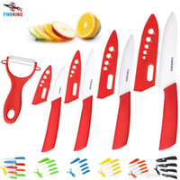 """Wholesale Chinese Ceramic Knives - D003 FINDKING Brand top quality kitchen knife ceramic knife 3"""" 4"""" 5"""" 6"""" inch + peeler + Transparent Acrylic Stand kitchen set"""