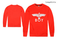 Wholesale Selling Boy London - 2017 new hiphop men and women long sleeve tshirt boy london shirt hot sell hip hop o-neck plus size s-xxl regular sleeve streetwear print
