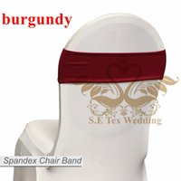 Hot Sale Chaise Band \ Spandex Chaise Sash Bow Pour Chaise Couverture - Bourgogne