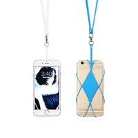 Wholesale iphone necklace case for sale - Silicone Lanyard Mobile Phone Case Cover Holder Sling Necklace Wrist Strap for iphone s plus