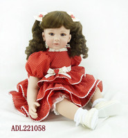 """Wholesale Adorable Reborn Baby Girl - 22"""" Doll Reborn White Polka Dot Dress Baby Doll Girl Adorable Kids Brinquedos Toy Realistic Soft Silicone Reborn Babies"""