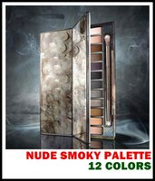 Wholesale nude smoky palette 12 color eyeshadow - top quality Makeup NUDE Smoky Palette Color Eyeshadow Palette g High quality