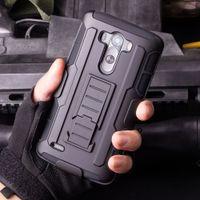 ceinture nexus achat en gros de-Boîtier de blindage militaire futuriste robuste avec clip de ceinture Holster Kickstand HTC M8 M9 LG G3 G4 LS770 Grand Prime Nexus 6P