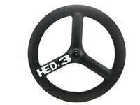 Wholesale Hed Spoke Clincher - HED carbon 3 spoke wheel 65mm depth clincher tubular carbon tri spoke wheels for track road bike carbono tri spoke wheel 700C